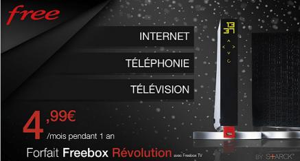 Vente Privée Freebox Révolution à 4,99€/mois pendant 1 an