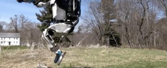 Robot Humanoïde qui fait son footing