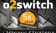 Hébergez votre site chez O2Switch! Des dizaines de milliers de sites sont hébergés et satisfaits!