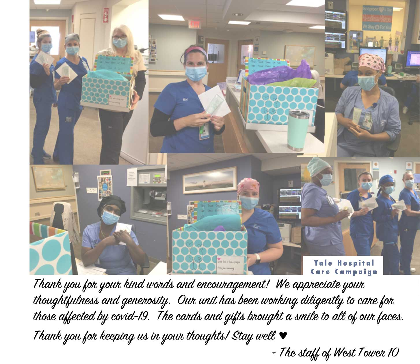 Yale Hospital Care Campaign Thank you