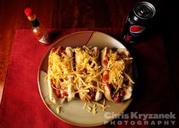 chili cheese hot dog photo
