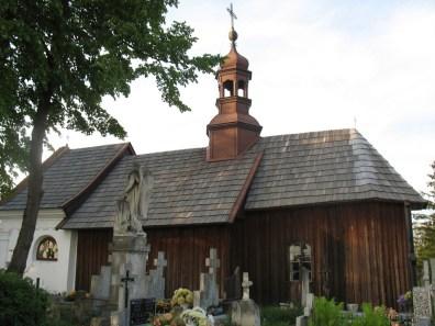 Drewniany przycmentarny Kościół pw. św. Barbary w Solcu nad Wisłą (fot. K. Furmanek)