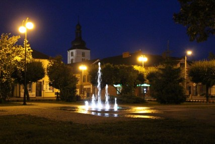 Rynek w Lipsku nocą (fot. K. Furmanek)