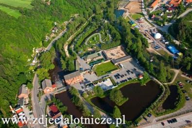 Bałtowski Kompleks Turystyczny z lotu ptaka (fot. arch. Gminy Bałtów)