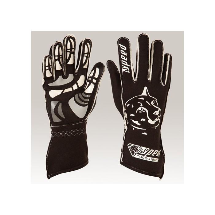 Karthandschuhe Melbourne Schwarz//neongelb Motorsport Handschuhe 8 Speed Racewear