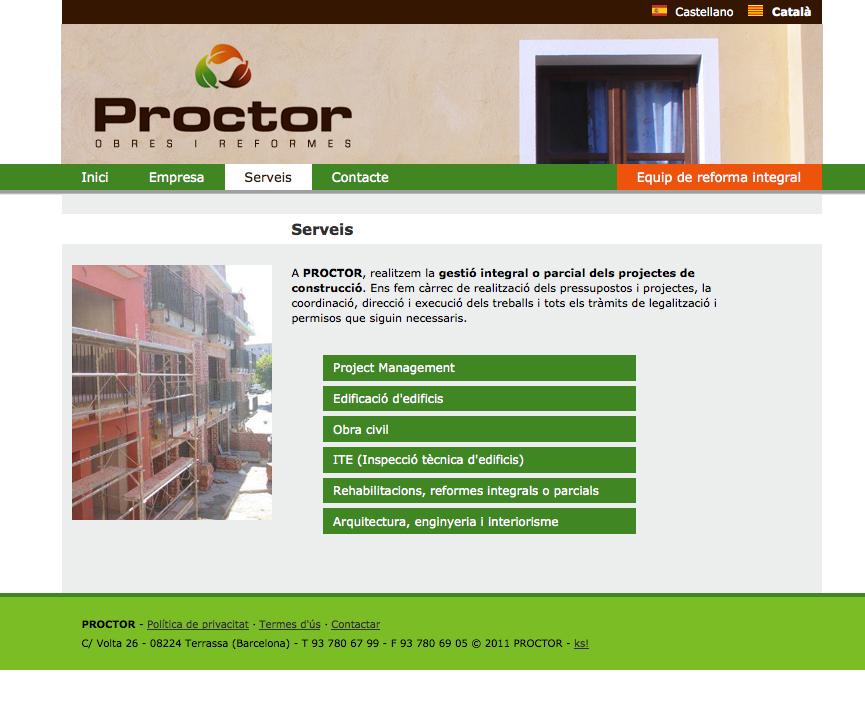 Proctor: Servicios