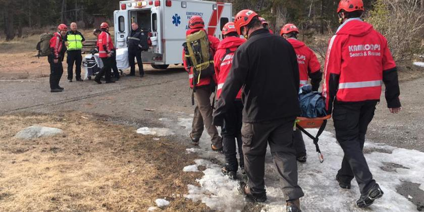 Injured elderly woman rescued from trail south of Kamloops