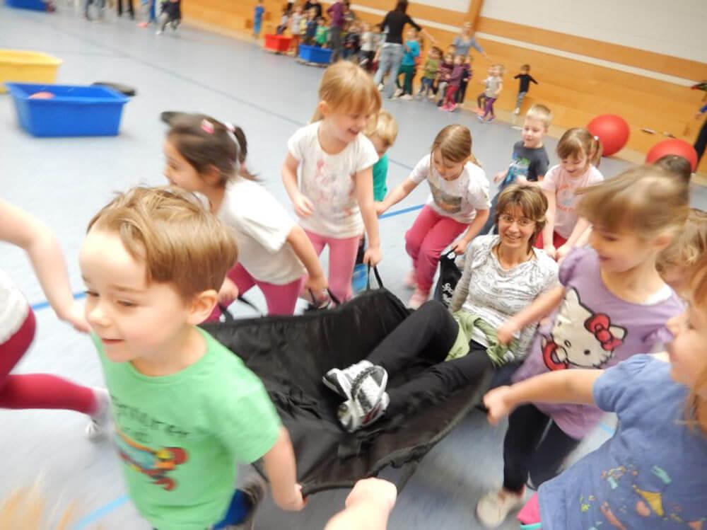 Übung beim Kinderschutz vom Kreissportbund Landkreis Leipzig
