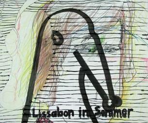 lissabon im sommer - 60 x 50 cm
