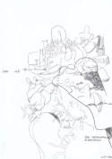 """Wolfgang Kschwendt - """"Der vermeintliche Algorithmus"""" - Pencil on cardboard, DIN A4, 2015"""