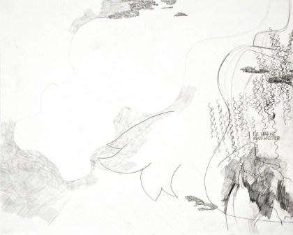 """Wolfgang Kschwendt: """"Ich Wähne Mich Weiter"""" (I Consider Myself Further), pencil and graphite on cardboard, 50 x 40 cm, 2015"""