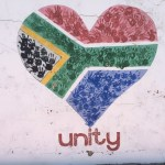 South African Flag in Shape of a Heart.