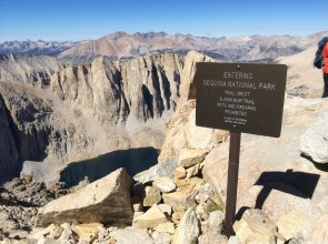 Trail Crest on the way to Peak of Mt Whitney