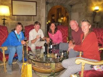 A glass of vino at The Parador