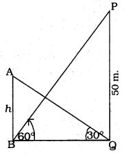 KSEEB SSLC Class 10 Maths Solutions Chapter 12 Some Applications of Trigonometry Ex 12.1 Q 9
