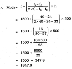 KSEEB SSLC Class 10 Maths Solutions Chapter 13 Statistics Ex 13.2 Q 3.1