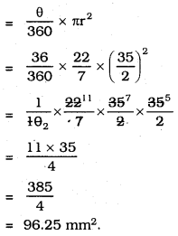 KSEEB SSLC Class 10 Maths Solutions Chapter 5 Areas Related to Circles Ex 5.2 22