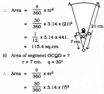 KSEEB SSLC Class 10 Maths Solutions Chapter 5 Areas Related to Circles Ex 5.3 34