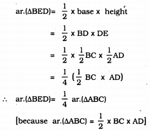 KSEEB Solutions for Class 9 Maths Chapter 11 Areas of Parallelograms and Triangles Ex 11.3 3