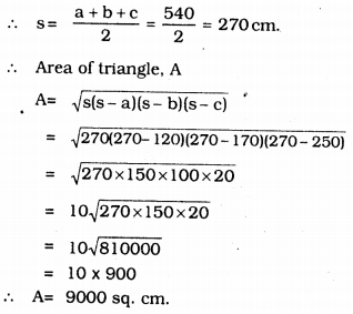KSEEB Solutions for Class 9 Maths Chapter 8 Heron's Formula Ex 8.1 8
