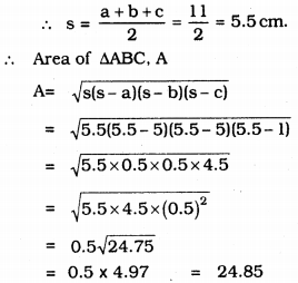 KSEEB Solutions for Class 9 Maths Chapter 8 Heron's Formula Ex 8.2 10