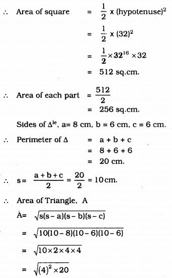 KSEEB Solutions for Class 9 Maths Chapter 8 Heron's Formula Ex 8.2 22
