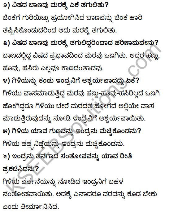 Tili Kannada Text Book Class 10 Solutions Gadya Chapter 1 Ona Marada Gili 2