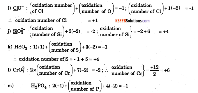 1st PUC Chemistry Question Bank Chapter 8 Redox Reactions - 121