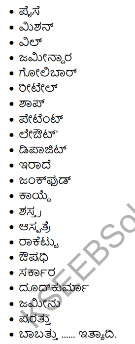 1st PUC Kannada Workbook Answers Nanartha Padagalu 7