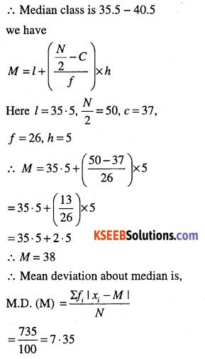 1st PUC Maths Question Bank Chapter 15 Statistics 23