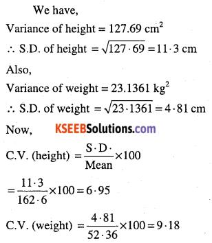 1st PUC Maths Question Bank Chapter 15 Statistics 49