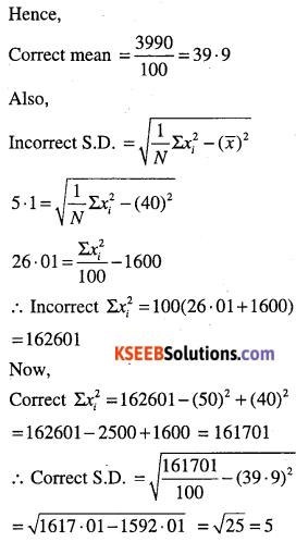 1st PUC Maths Question Bank Chapter 15 Statistics 61