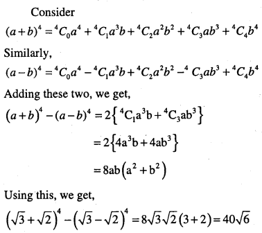 1st PUC Maths Question Bank Chapter 8 Binomial Theorem 11