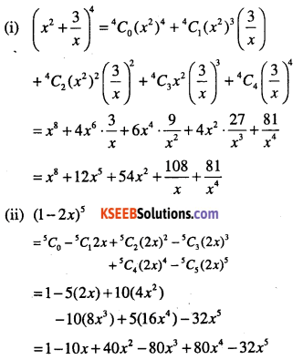 1st PUC Maths Question Bank Chapter 8 Binomial Theorem 4