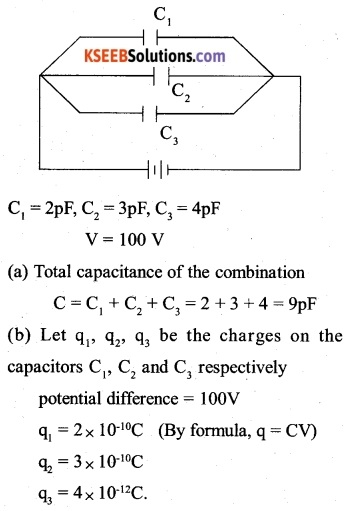 2nd PUC Physics Question Bank Chapter 2 Electrostatic Potential and Capacitance 10