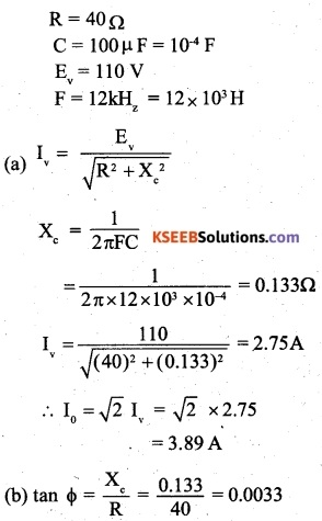 2nd PUC Physics Question Bank Chapter 7 Alternating Current 21