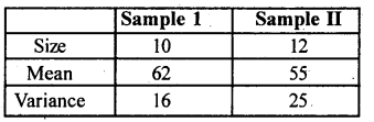 2nd PUC Statistics previous year Question paper March 2016 - 20