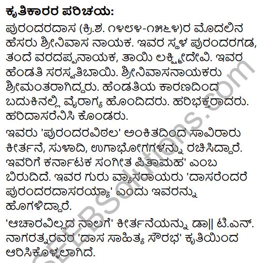 Acharavillada Nalige Summary in Kannada 1