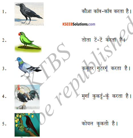 KSEEB Solutions for Class 6 Hindi Chapter 18 चिड़िया 4
