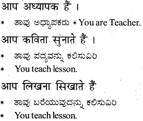 KSEEB Solutions for Class 6 Hindi Chapter 8 मैं, हम, तू, तुम, आप 6