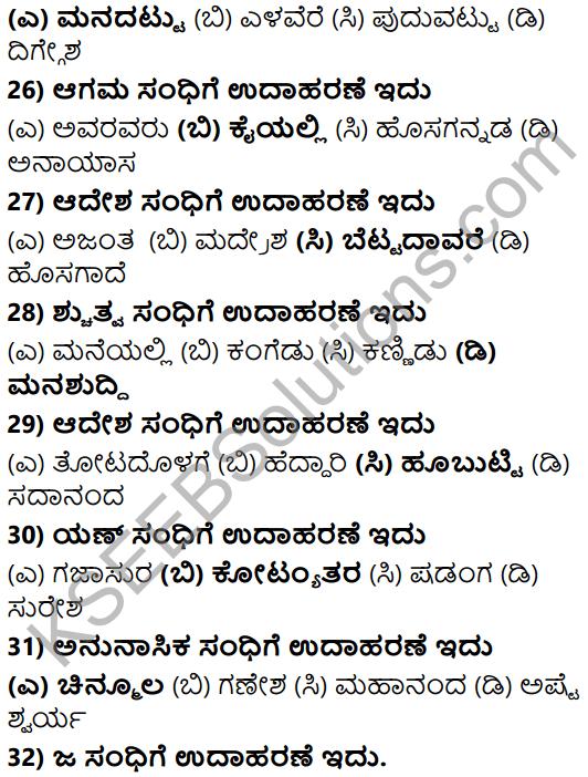 Karnataka SSLC Class 10 Tili Kannada Grammar Anvayika Vyakarana 12