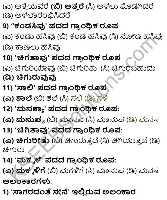 Karnataka SSLC Class 10 Tili Kannada Grammar Anvayika Vyakarana 32