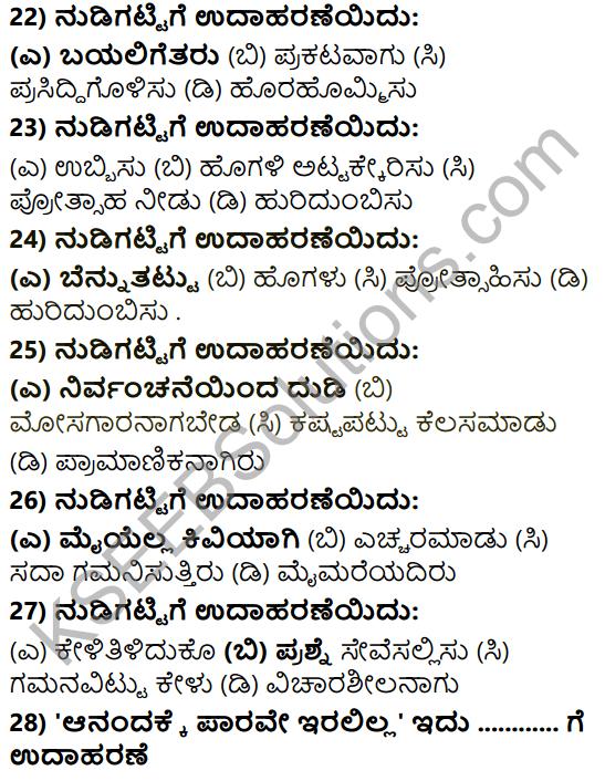 Karnataka SSLC Class 10 Tili Kannada Grammar Anvayika Vyakarana 42
