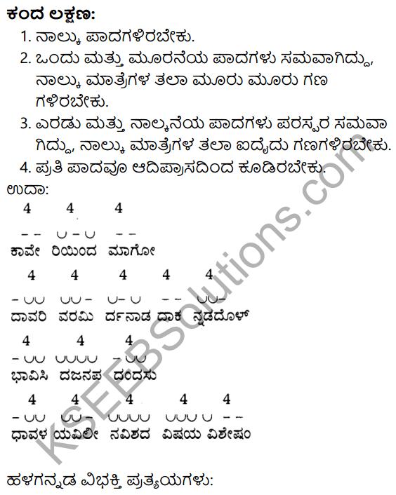 Siri Kannada Text Book Class 9 Solutions Padya Chapter 4 Niyatiyanar Miridapar 10
