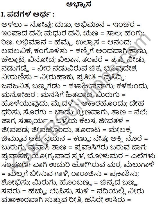 Tili Kannada Text Book Class 6 Solutions Gadya Chapter 2 Kugutide Pakshi 1
