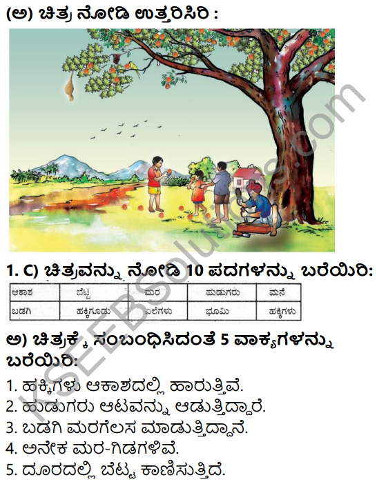 Tili Kannada Text Book Class 7 Solutions Purva Siddata Pathagalu 1