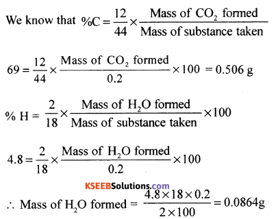 1st PUC Chemistry Model Question Paper 3 with Answers - 9