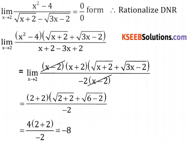 2nd PUC Basic Maths Question Bank Chapter 17 Limit and Continuity of a Function Ex 17.5 - 28