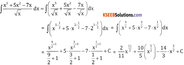 2nd PUC Basic Maths Question Bank Chapter 20 Indefinite Integrals Ex 20.1 - 2