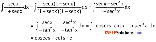 2nd PUC Basic Maths Question Bank Chapter 20 Indefinite Integrals Ex 20.1 - 8
